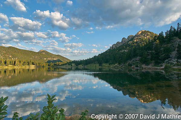 Summer Morning Reflections at Lily Lake in Rocky Mountain National Park. Image taken with a Nikon D2xs and 14 mm f/2.8 lens (ISO 140, 14 mm, f/11, 1/60 sec). Raw image processed with Capture One Pro (Still Life), and Focus Magic. (David J Mathre)