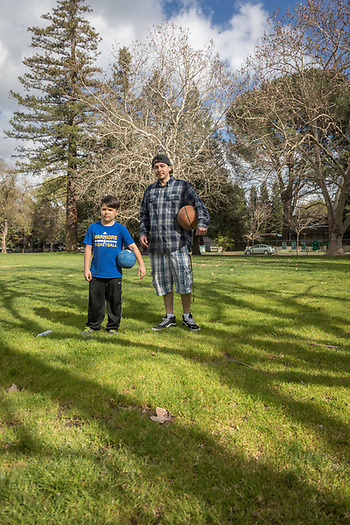 Cafe Sarafornia cook Christian Gutierez is headed to Calistoga Elementary School to play basketball with his eight year old buddy, Diego. (Clark James Mishler)