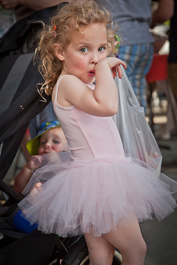 Addison McBeth, age 4, at the Concord Farmer's Market (Clark James Mishler)