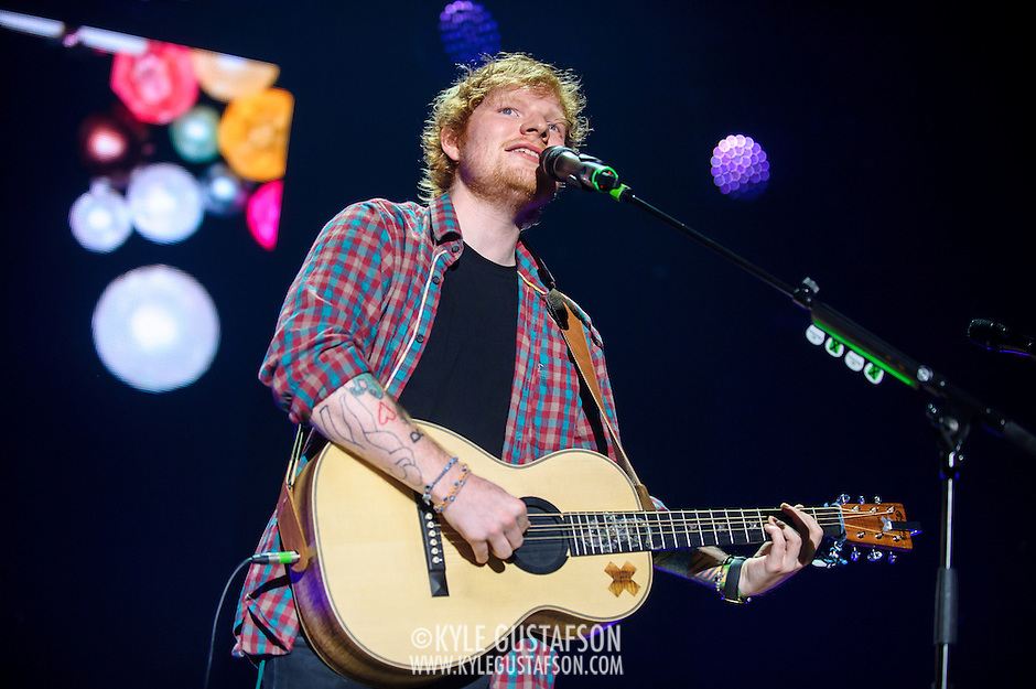 COLUMBIA, MD - September 6th, 2014 - English singer-songwriter Ed Sheeran performs at Merriweather Post Pavilion in Columbia, MD. Sheeran's second solo album, x,  was released in June and reached at number one in the UK and US. He was also nominated for Best New Artist at the 2014 Grammy Awards. (Photo by Kyle Gustafson / For The Washington Post) (Kyle Gustafson/For The Washington Post)