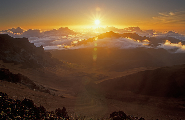 Sunrise over Haleakala Crater; Haleakala National Park, Maui, Hawaii. (Greg Vaughn)