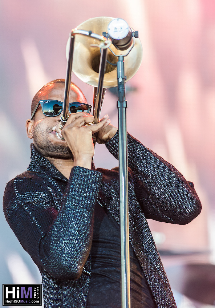 Trombone Shorty performs at the 2014 Voodoo Music Experience in New Orleans, LA. (HIGH ISO Music, LLC)