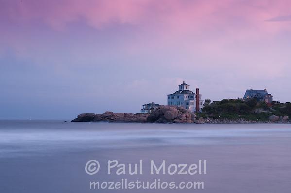 Sideside homes on Bass Rocks, Gloucester, MA, Cape Ann. (Paul Mozell)
