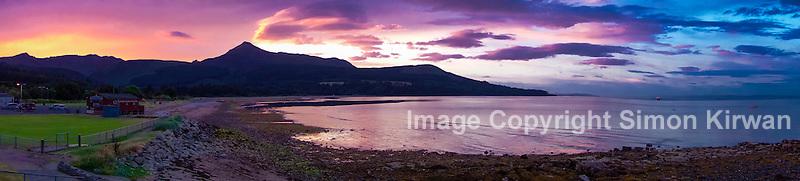 Brodick Bay Sunset Panorama, Isle of Arran, Scotland - Photo By Simon Kirwan