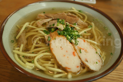 Pork in Okinawa soba in southwest Japan - Great Food