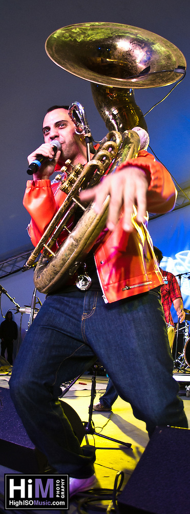Red Baraat playing at the 2011 Voodoo Festival in New Orleans, LA. (Golden G. Richard III)