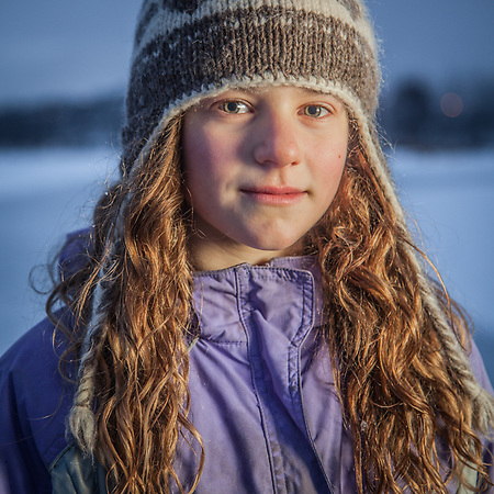 Ten year old Lily Amore at Westchester Lagoon, Anchorage (Clark James Mishler)