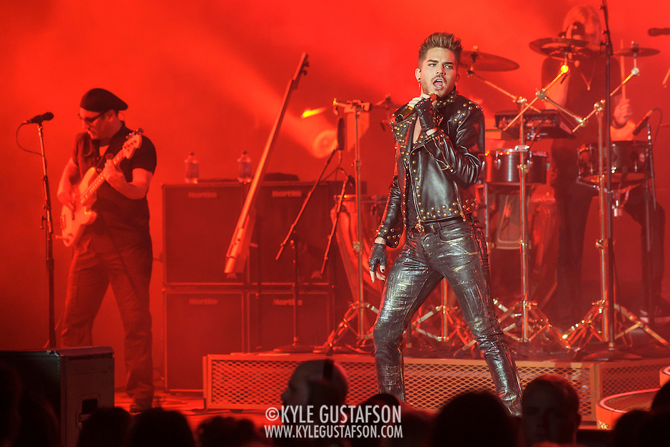 "COLUMBIA, MD - July 20th, 2014 - 2009 American Idol runner-up Adam Lambert performs with Queen at Merriweather Post Pavilion in Columbia, MD. Lambert sang such Queen classics as ""Another One Bites the Dust"" and ""Stone Cold Crazy."" (Photo by Kyle Gustafson / For The Washington Post) (Kyle Gustafson/For The Washington Post)"