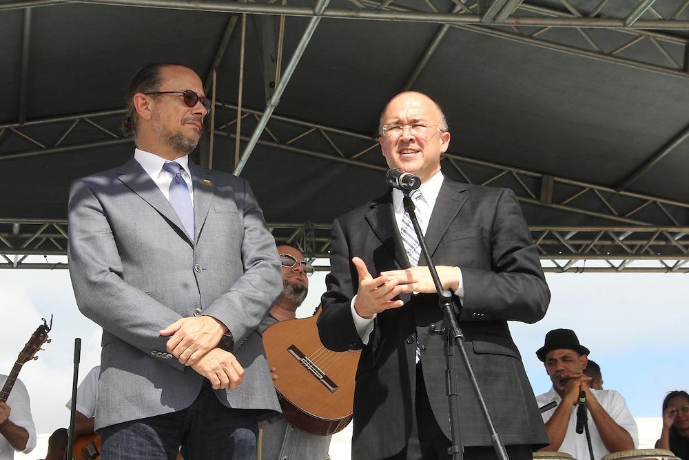 El ministro de Cultura, José Antonio Rodríguez, y el procurador general, Francisco Domínguez Brito.