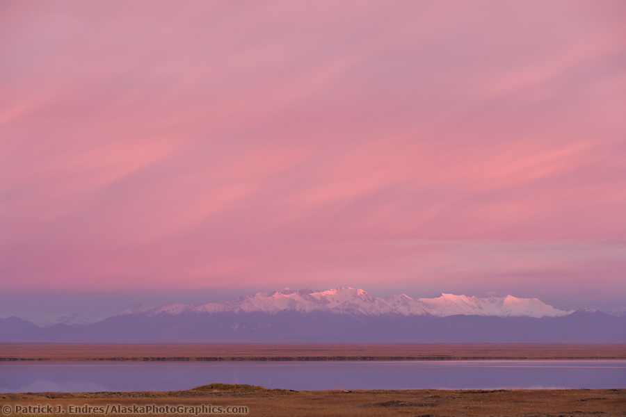 Romanzof mountains of the Brooks Range in the Arctic National Wildlife Refuge, view from Barter Island south to the refuge. (Patrick J. Endres / AlaskaPhotoGraphics.com)