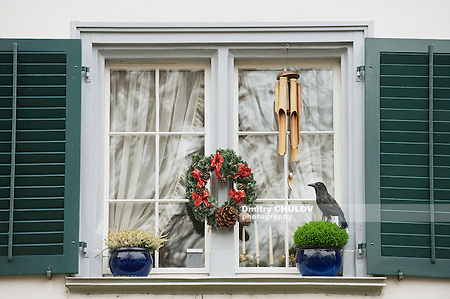 Exterior of the window with Christmas decorations in Zurich, Switzerland. (Dmitry Chulov)