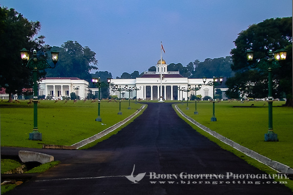 Indonesia, Java, Bogor. Istana Bogor is one of 6 Presidential Palaces in Indonesia. (Photo Bjorn Grotting)