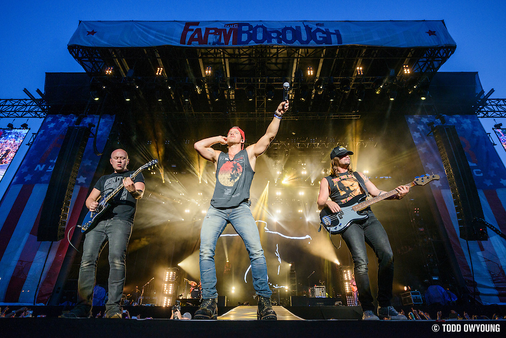Kip Moore performing at the FarmBorough Country Music Festival on Randall's Island in New York City on June 27, 2015 (Todd Owyoung)