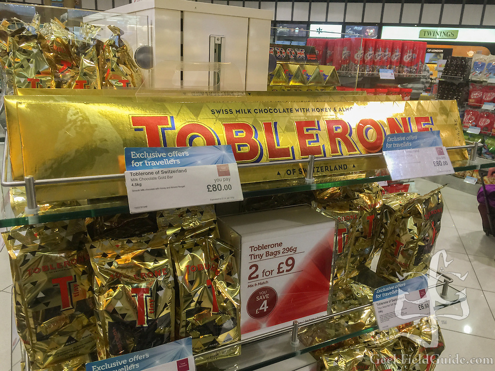 4.5 kg, 80£ block of Toblerone chocolate (Warren Schultz)