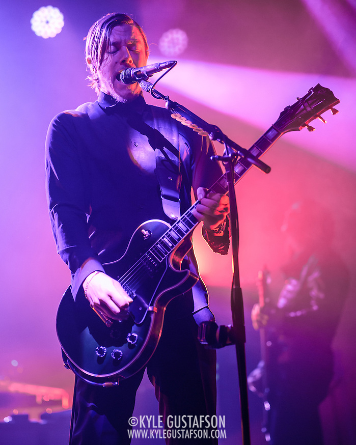 Paul Banks of Interpol performs at Echostage in Washington, D.C. The band is currently touring behind their fifth studio album, El Pintor. (Photo by Kyle Gustafson) (Photo by Kyle Gustafson)