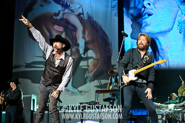 "Bristow, VA. - August 1st, 2010:  Country Music duo Brooks & Dunn perform at Jiffy Lube Live as part of their ""Last Rodeo"" Tour.  The duo, made up of Kix Brooks and Ronnie Dunn, is calling it quits after 20 years and 20 number one country hits. (Photo by Kyle Gustafson/For The Washington Post) (Photo by Kyle Gustafson)"