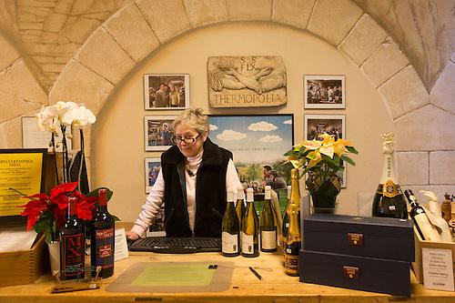 """I 'm celebrating 20 years of business next week.""   -Owener Margaux Singleton at Enoteca Wine Shop in downtown Calistoga (Clark James Mishler)"