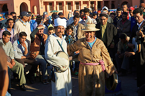 Entertainers in the Jemaa el-Fnaa square in  Marrakech, Morocco (Paul E Williams)