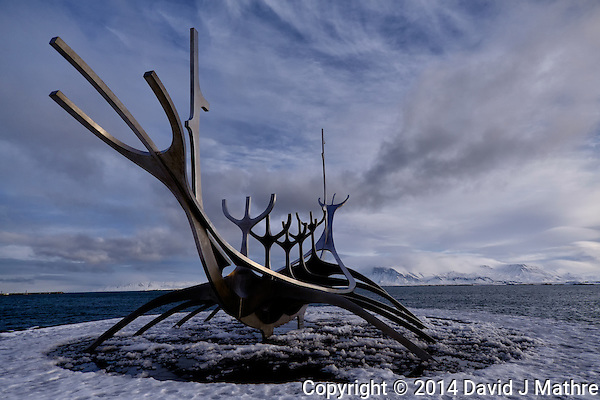 Sun Voyager (Sólfar). Image taken with a Fuji X-T1 mirrorless camera and 12 mm f/2.8 Zeiss lens (ISO 200, 12 mm, f/2.8, 1/3500 sec). (David J Mathre)