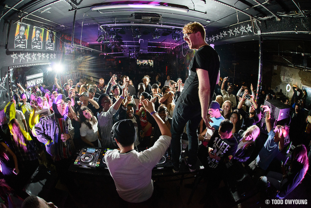 "Baauer performing at The Hills as part of the after party for the advance screening of the documentary film ""Baauer: Searching for Sound"" on November 4, 2014. (Todd Owyoung)"