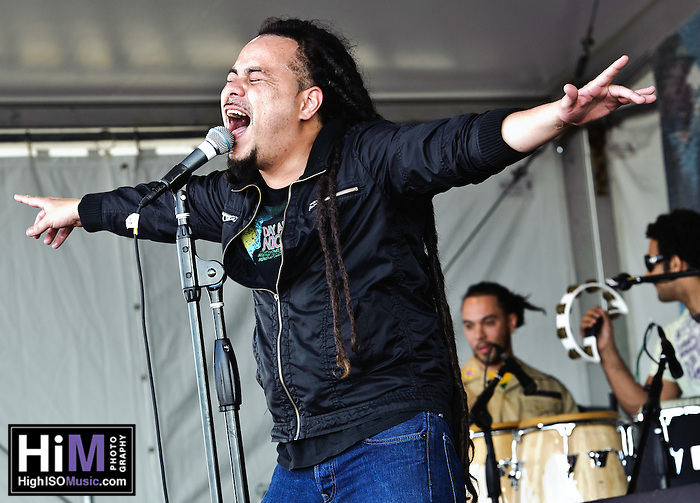 Locos por Juana playing at the Jazz and Heritage Festival in New Orleans, LA on day 4. (Golden G. Richard III)