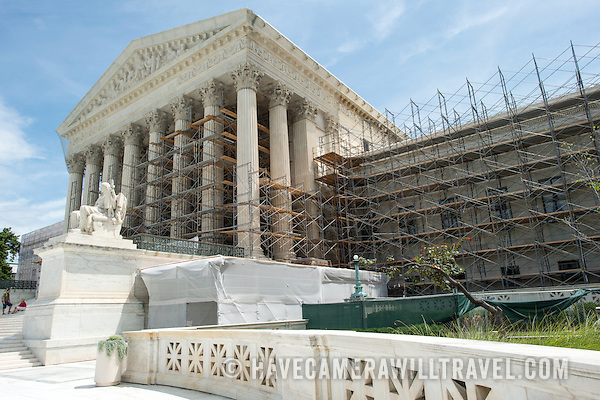 Renovations to the building of the US Supreme Court starting in the summer of 2012. (David Coleman / havecamerawilltravel.com)