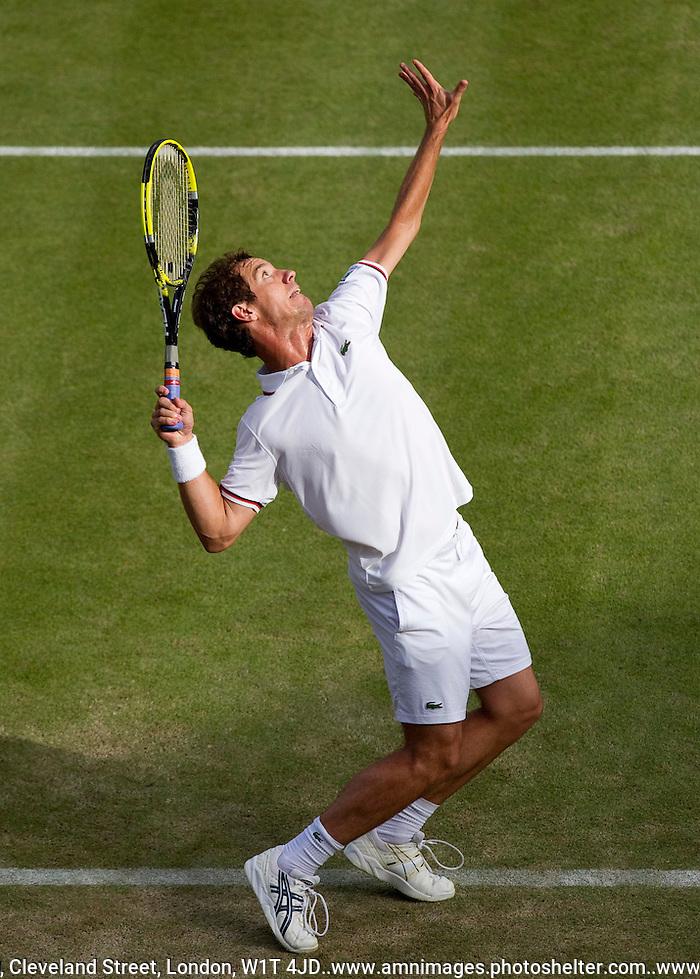 Richard Gasquet..Tennis - Grand Slam - The Championships Wimbledon - AELTC - The All England Club - London - Friday 29th June  2012. .© AMN Images, 30, Cleveland Street, London, W1T 4JD.Tel - +44 20 7907 6387.mfrey@advantagemedianet.com.www.amnimages.photoshelter.com.www.advantagemedianet.com.www.tennishead.net (FREY - AMN IMAGES)