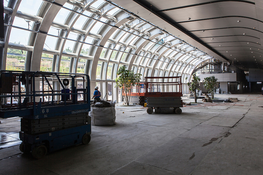 Work continues on the Daan Park MRt station, scheduled to open in December 2012. (Craig Ferguson)
