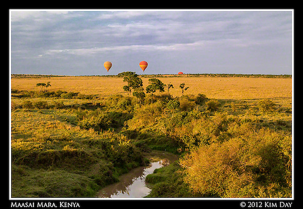 Balloons In Golden Light.Maasai Mara, Kenya.September 2012 (Kim Day)