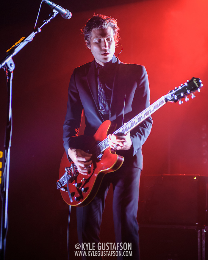 Daniel Kessler of Interpol performs at Echostage in Washington, D.C. The band is currently touring behind their fifth studio album, El Pintor. (Photo by Kyle Gustafson) (Photo by Kyle Gustafson)