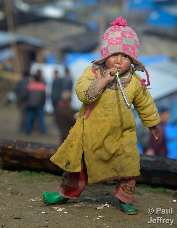 A child in the village of Gatlang, in the Rasuwa District of Nepal near the country's border with Tibet. (Paul Jeffrey)