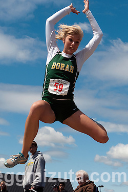 YMCA Track and Field Invite on April 28, 2012 at Rocky Mountain High School, Meridian, Idaho. (Gregg Mizuta)
