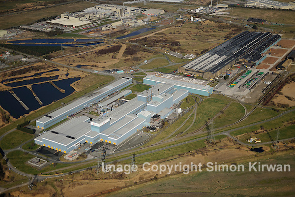 Corus Steelworks, Shotton, Flintshire from the Air. Aerial photo by Simon Kirwan