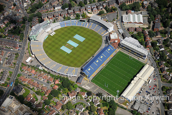 Headingley Carnegie Cricket & Rugby Stadium, Leeds from the Air - aerial photography by Simon Kirwan