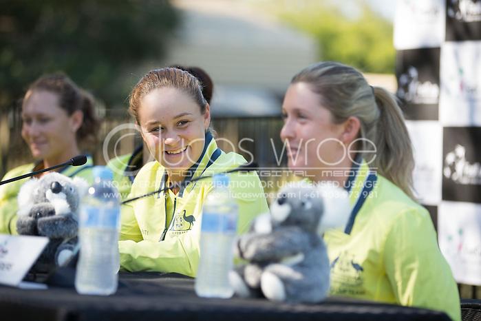 Ashleigh Barty (AUS), April 18, 2014 - TENNIS : Fed Cup, Semi-Final, Australia v Germany. Lone Pine Koala Sanctuary, Brisbane, Queensland, Australia. Credit: Lucas Wroe (Lucas Wroe)