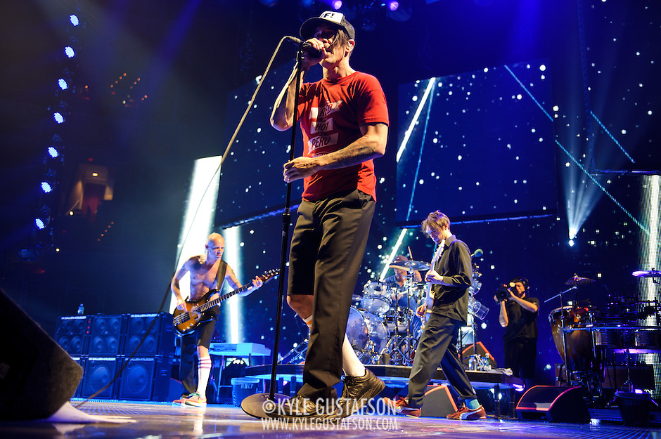 WASHINGTON, DC -  May 8th, 2012 - The Red Hot Chili Peppers perform at the Verizon Center in Washington, D.C. The band was inducted into the Rock N Roll Hall Of Fame earlier this year and released their 10th studio album, I'm With You, in late 2011. (Photo by Kyle Gustafson/For The Washington Post) (Kyle Gustafson/For The Washington Post)