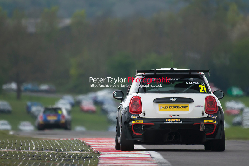 #21 Mohammed NALWALLA MINI JCW  during MINI Challenge - JCW  as part of the BRDC British F3/GT Championship Meeting at Oulton Park, Little Budworth, Cheshire, United Kingdom. April 17 2017. World Copyright Peter Taylor/PSP. (Peter Taylor/PSP)