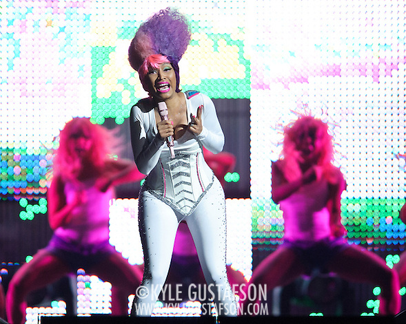 WASHINGTON, D.C. - April 3, 2011 - Nicki Minaj performs during the 'I Am Still Music' tour at the Verizon Center on April 3, 2011 in Washington, D.C.. (Photo by Kyle Gustafson/For The Washington Post) (Photo by Kyle Gustafson / For The Washington Post)