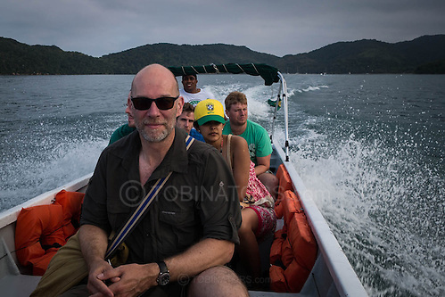 Some nice guy took this picture of me on the water taxi from Lopes Mendes beach on the island of Ilha Grande, Brazil. Photo by Andrew Tobin/Tobinators Ltd (Andrew Tobin/Tobinators)