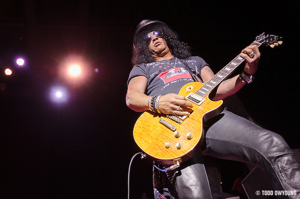 Slash featuring Myles Kennedy and The Conspirators performing at The Pageant in St. Louis, Missouri on August 8, 2012. (TODD OWYOUNG)