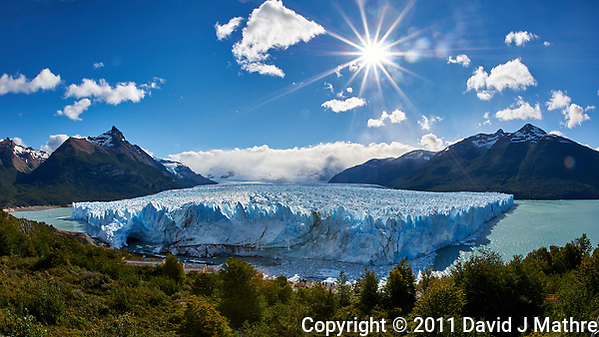 Perito Moreno Glacier, Los Glaciares National Park. Image taken with a Nikon D3s and 16 mm f/2.8 fisheye lens (ISO 200, f/22, 1/500 sec). (David J Mathre)