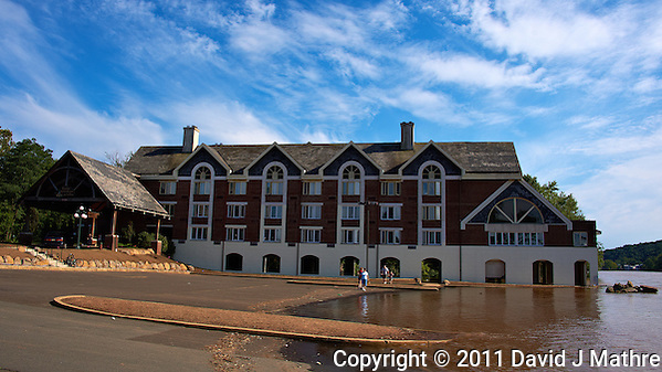 Lambertville Inn. Delaware River at Near Flood Stage after Hurricane Irene. Image taken with a Nikon D700 and 28-300 mm VR lens (ISO 200, 28 mm, f/8, 1/1000 sec). Raw image processed with Capture One Pro 6, Nik Define 2, and Photoshop CS5. (David J Mathre)