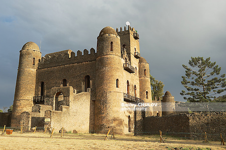 Medieval fortress in Gondar, Ethiopia, UNESCO World Heritage site. (Dmitry Chulov)