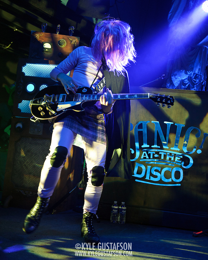 WASHINGTON, DC - October 31st, 2011 - Ian Crawford of Panic! at the Disco performs in costume during their Halloween show at the 9:30 Club in Washington, D.C. (Photo by Kyle Gustafson/For The Washington Post) (Kyle Gustafson/FTWP)