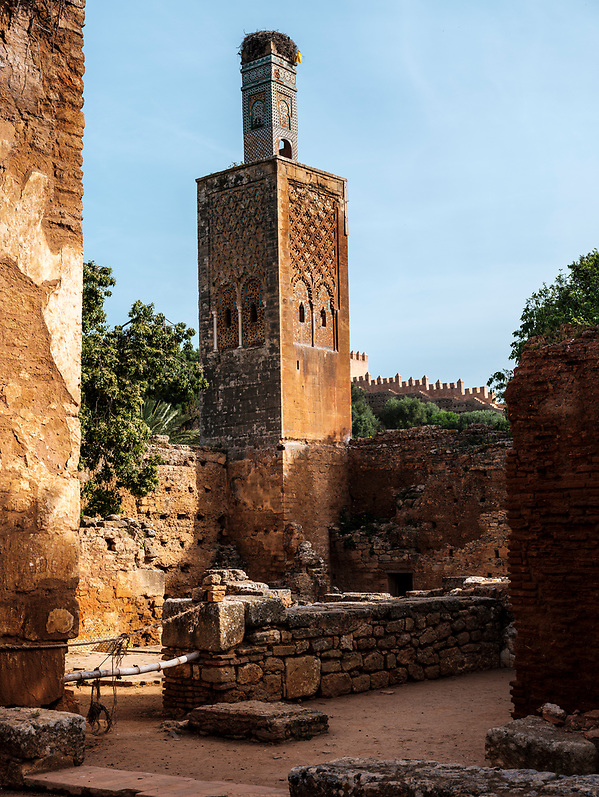 RABAT, MOROCCO - CIRCA APRIL 2017: Ruins in Chellah, an ancient citadel featuring Roman ruins an royal tombstones in Rabat. (Daniel Korzeniewski)