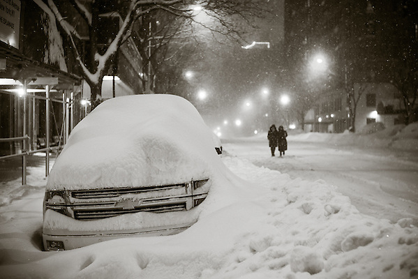 West End Avenue at 74th Street, New York, NY, January 23 2016. Photograph ©2016 Darren Carroll (Darren Carroll)