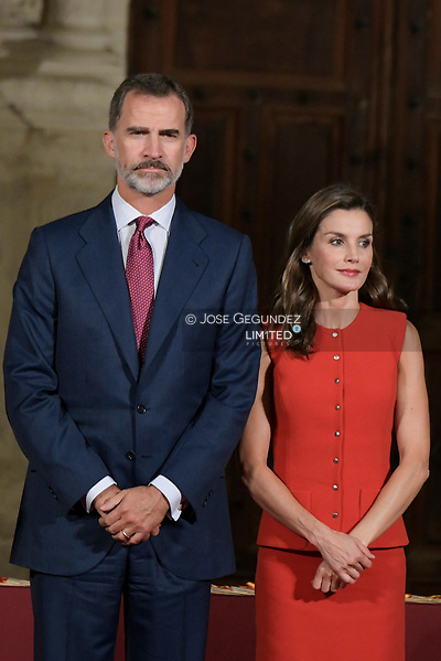King Felipe VI of Spain, Queen Letizia of Spain attended the Delivery of the National Culture Awards at Cuenca's Cathedral on September 13, 2017 in Cuenca, Spain (© JOSE GEGUNDEZ, © JOSE GEGUNDEZ/© JOSE GEGUNDEZ)