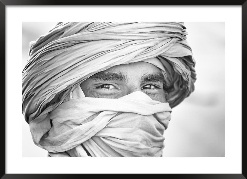 Fine art portrait of a nomad in Morocco. (Rosa Frei)