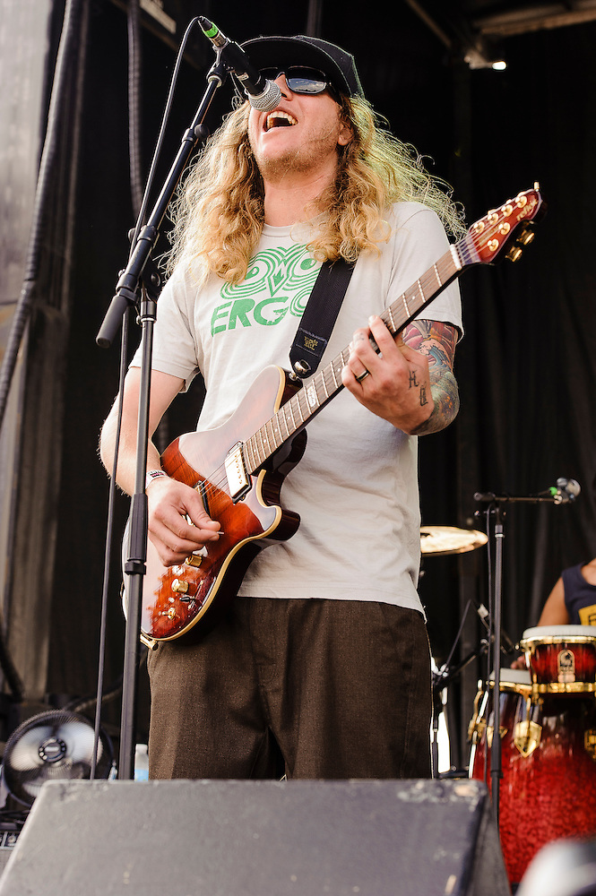 Photos of the band Dirty Heads performing at Catalpa Music Festival on Randall's Island, NYC. July 29, 2012. Copyright © 2012 Matthew Eisman. All Rights Reserved. (Photo by Matthew Eisman/ Getty Images)