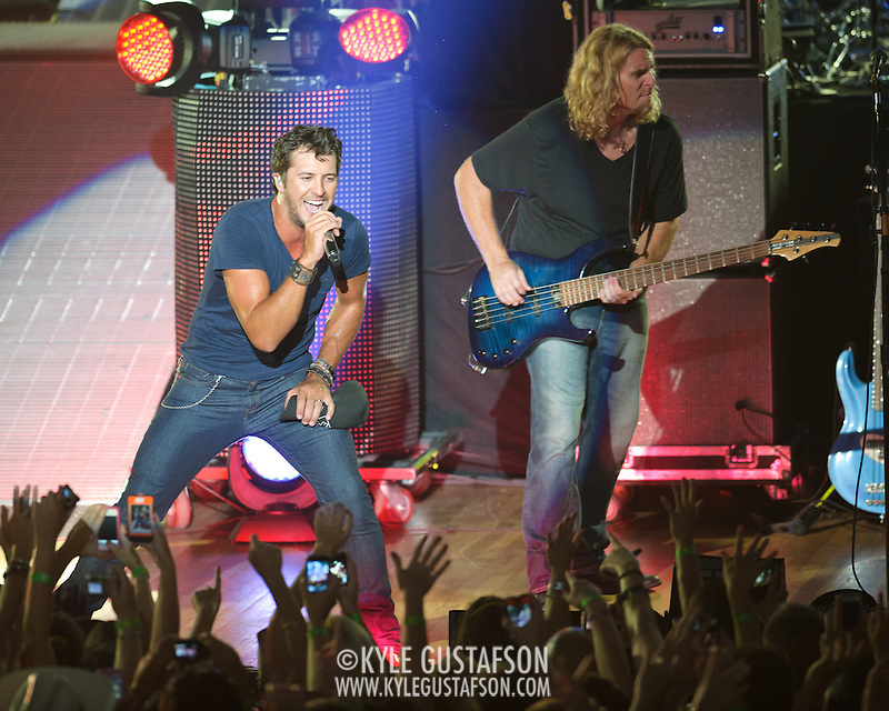 "COLUMBIA, MD - July 15th, 2012 - Luke Bryan performs at Merriweather Post Pavilion. Bryan's 2011 album, Tailgates & Tanlines, included the number one singles  ""I Don't Want This Night to End"" and ""Drunk on You"". (Photo by Kyle Gustafson/For The Washington Post) (Kyle Gustafson/For The Washington Post)"